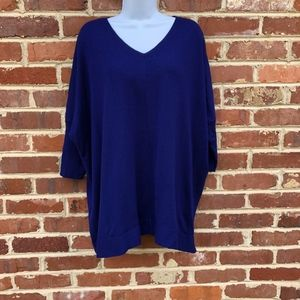 Eileen Fisher Wool V Neck Sweater Large